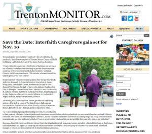 Interfaith Caregivers gala set for Nov 10 - Trenton Monitor article